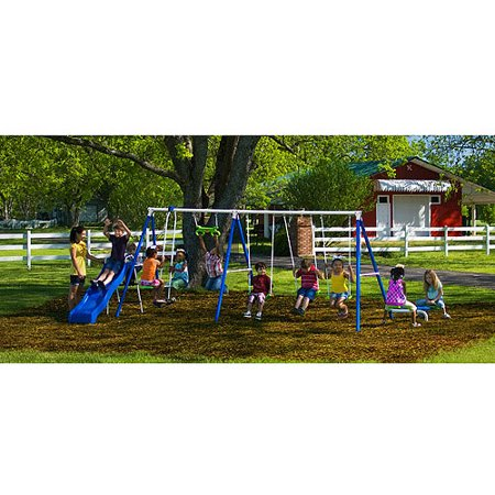 Flexible Flyer Fantastic Playground Metal Swing Set Walmart Com