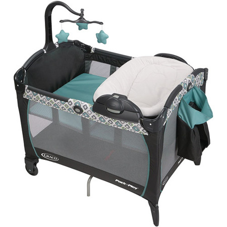 Graco Pack 'n Play Portable Napper & Changer Playard, (Fold Portable Play Yard Crib)