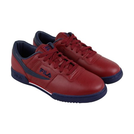 Original Fitness Sneaker - Fila Original Fitness Mens Red Leather Lace Up Sneakers Shoes