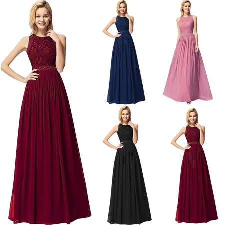 Ever-Pretty Womens Elegant Lace Sleeveless Floor Length Formal Evening Prom Ball Gown Party Gala Dresses for Women 07391 US 4