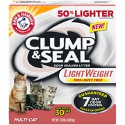 Arm & Hammer Clump & Seal Lightweight Litter, Multi-Cat, 15lb