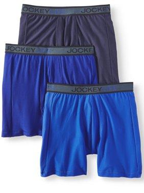 Jockey Life Men's Breathe Micro Mesh Long-Leg Boxer Brief - 3 pack