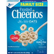 (2 Pack) Frosted Cheerios, Gluten Free, Cereal, Family Size, 19.5 oz Box