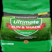 Pennington Ultimate Plus Grass Seed Plus Fertilizer Sun and Shade Mix; 3 lb