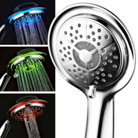 PowerSpa All-Chrome LED Handheld Shower with Air Jet LED Turbo Pressure-Boost Nozzle Technology