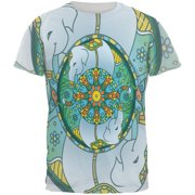 1f10d4a44 Mandala Trippy Stained Glass Elephant All Over Mens T Shirt