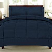 All Seasons Down Alternative Comforter Solid Color Box Stitch