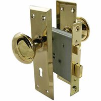 "Ultra 44609 2-1/4"" Brass Old Time Mortise Interior Door Lock Set"