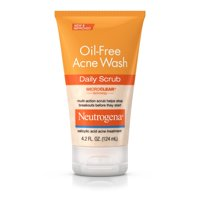 Neutrogena Oil-Free Acne Face Wash Daily Face Scrub, 4.2 fl. oz