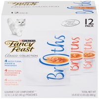 Fancy Feast Broths Classic Collection Cat Food Complement Variety Pack - (12) 1.4 oz. Pouches