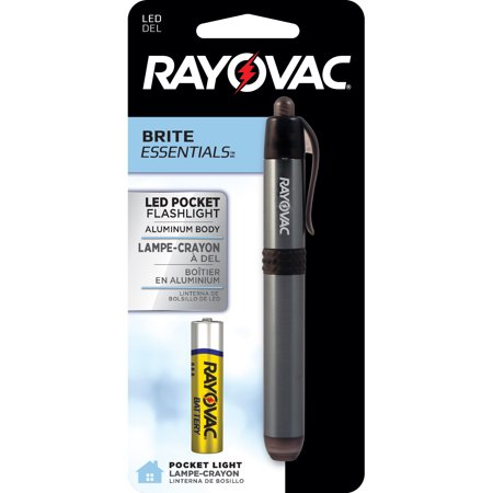 Rayovac Brite Essentials 1AAA LED Pocket Flashlight (color may vary) BRSLEDPEN-BB