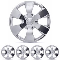 "BDK Toyota Camry Style Hubcaps Cover, Chrome 16"" Replica Cover, 4 Pieces"
