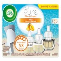 Air Wick Pure Scented Oil Starter Kit (Free Warmer + 3 Refills), Maui Sweet Mango, Air Freshener