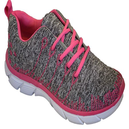 Womens Sneakers Athletic Knit Mesh Running Light Weight Walking Casual Comfort Running Shoes Breathable (8, Pink/Grey with Memory Foam Insole)