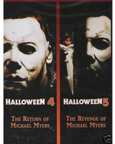 HALLOWEEN 4/HALLOWEEN 5 (DVD) - Halloween Horror Movies 80s
