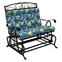 Blazing Needles Outdoor Loveseat Glider Hinged Seat & Back Cushion - 40 x 43 in.