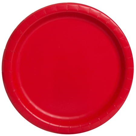Red Paper Dinner Plates, 9in, 20ct](Red Pocket.com)