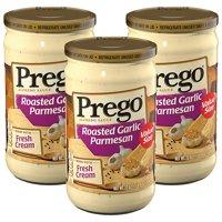 (3 Pack) Prego Roasted Garlic Parmesan Alfredo Sauce, 22 oz.
