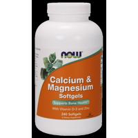 NOW Calcium & Magnesium Softgels, 240 Ct