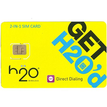 H2O Unlocked 2-in-1 SIM Card for all GSM Carriers (Standard + Micro Size) ()