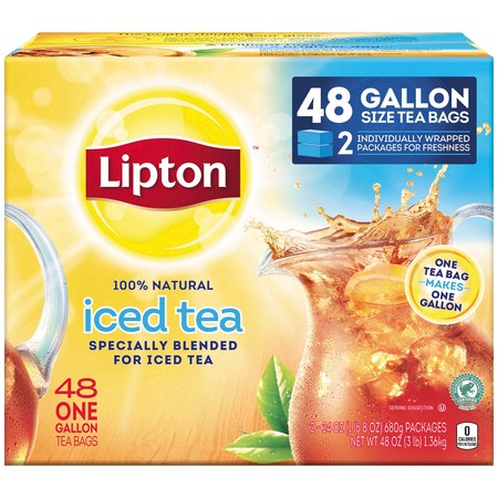 Lipton Unsweetened Gallon-Sized Black Iced Tea Bags, 48