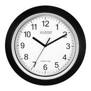 Better Homes & Gardens W85961 12 Inch Analog Atomic Black Wall Clock