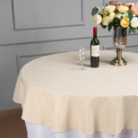 """BalsaCircle 70"""" Round Polyester Tablecloth for Party Wedding Reception Catering Dining Home Table Linens"""