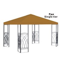 10x10' Replacement Canopy Top Patio Pavilion Gazebo Sunshade Polyester Cover-Single Tier