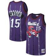 04753b0ca214 Vince Carter Toronto Raptors Mitchell   Ness 1998-99 Hardwood Classics  Swingman Jersey - Purple
