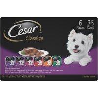 Cesar Canine Cuisine Classics Adult Wet Dog Food Variety Pack, (36) 3.5 oz. Trays