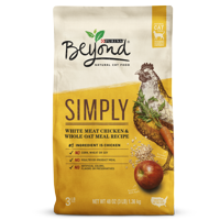 Purina Beyond Simply White Meat Chicken & Whole Oat Meal Recipe Adult Dry Cat Food - 3 lb. Bag