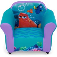 Disney Pixar Finding Dory Kids Upholstered Chair with Sculpted Plastic Frame by Delta Children