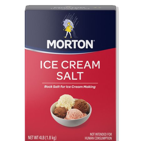 (3 Pack) Morton Ice Cream Salt, 4 (Marble Salt)