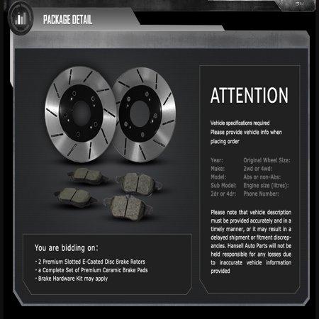 [Front E-Coat Slott Brake Rotors Ceramic Pads] Fit 2006 Nissan Altima SE-R - image 1 of 2