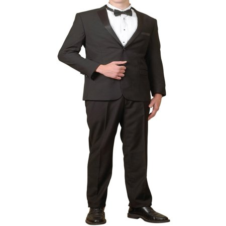 Basic Tuxedo - Men's Tuxedo Package | 5 Piece Complete Set | Suit Jacket, Tux Pants, Shirt Cummerbund and Bow Tie