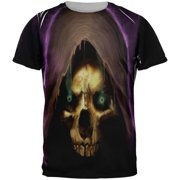 136f8362 Halloween Grim Reaper Adult Black Back T-Shirt