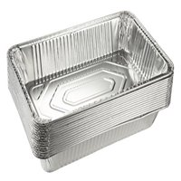 Aluminum Foil Pans - 15-Piece Full-Size Deep Disposable Steam Table Pans 20.5 x 3.3 x 13 Inches