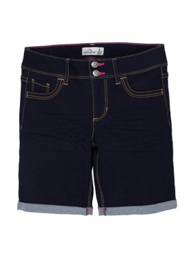Rolled Cuff Denim Bermuda Short (Little Girls & Big Girls)