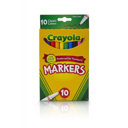 Crayola Fine Tip Markers, Classic Colors, School Supplies, 10 Count](Crayola Window Markers)