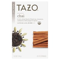 (36 Pack) Tazo Organic Chai Tea Bags Black Tea 20ct
