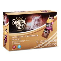 (2 Pack) Special Kitty Select Gourmet Wet Cat Food Variety Pack- (12) 3-oz Pouches