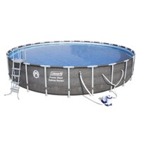 "Coleman Power Steel™ 26' x 52"" Deluxe Series Pool Set with Pump, Ladder and Cover"