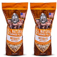 Pit Boss Texas Mesquite Hardwood BBQ Grilling and Smoking Pellets - 20# Resealable Bag