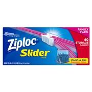 Ziploc Slider Storage Bags, Gallon, 60 Count