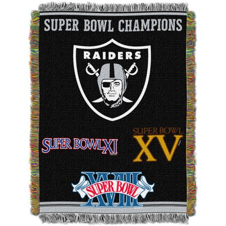 Oakland Raiders Comfy Throw - NFL 48