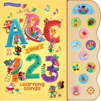 ABC and 123 Learning Songs: Deluxe Sound Book Wood Module (Board Book)