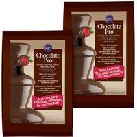 (2 Pack) Wilton Chocolate Pro Fountain Fondue Chocolate - Chocolate For Fountain