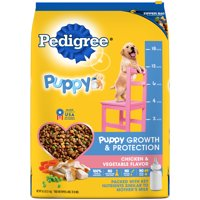 PEDIGREE Puppy Growth & Protection Dry Dog Food Chicken & Vegetable Flavor, 16.3 lb. Bag