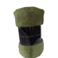 "Decotex Warm & Cozy Lightweight Super Soft Plush Fleece Throw Blanket (50"" X 60"", Olive Green)"