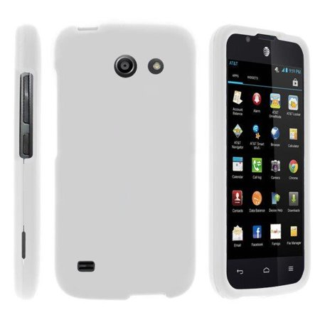 TurtleArmor ® | For Huawei Tribute Y536A1 | AT&T Fusion 3 [Slim Duo] Two Piece Hard Cover Slim Snap On Case - White ()